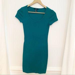 Emerald Green T-Shirt Dress